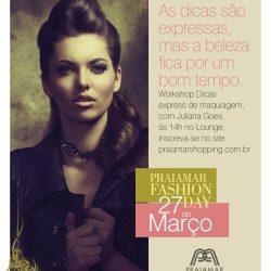 10 Vagas   Workshop de Maquiagem Praiamar Fashion Day