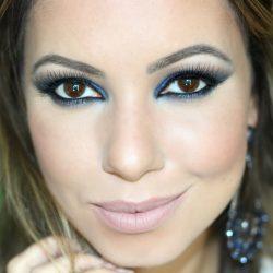 Maquiagem Azul | Formatura, Festa, Noite