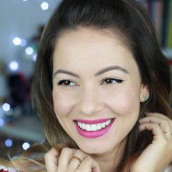 Maquiagem Básica para o Dia | Meio Delineado e Batom Rosa