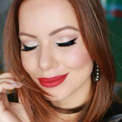 Tutorial de Maquiagem | Delineador e Batom Vermelho
