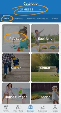 catálogo do app de desenvolvimento infantil kinedu