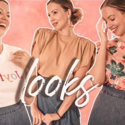 Batalha de looks | Saia Pareô Midi com Camiseta, Muscle Tee e Blusa Social