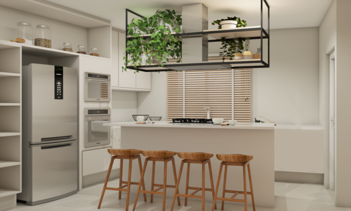 projeta da cozinha nova com a arquiteta