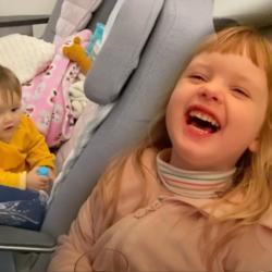 Primeira viagem de avião com dois filhos